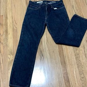 Gap straight 32x30 men's medium dark wash jeans